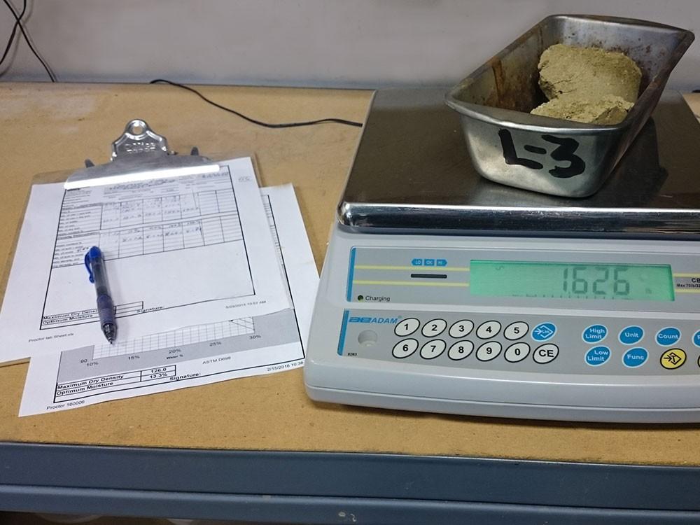 Weighing Soil